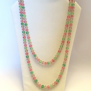 Gorgeous Vintage Glass Bead Statement Necklace